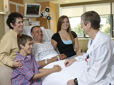 Family visiting patient