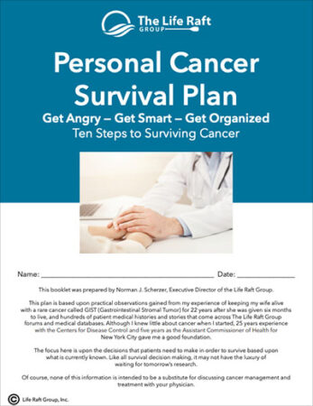 Personal Cancer Survival Plan