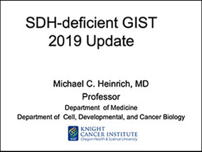 SDH-deficient GIST presentation by Dr. Heinrich at GDOL Portland, June 2019