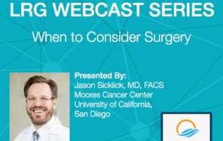 Dr. Jason K. Sicklick webcast on surgery