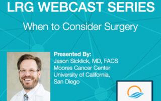 Dr. Jason K. Sicklick webcast on surgery